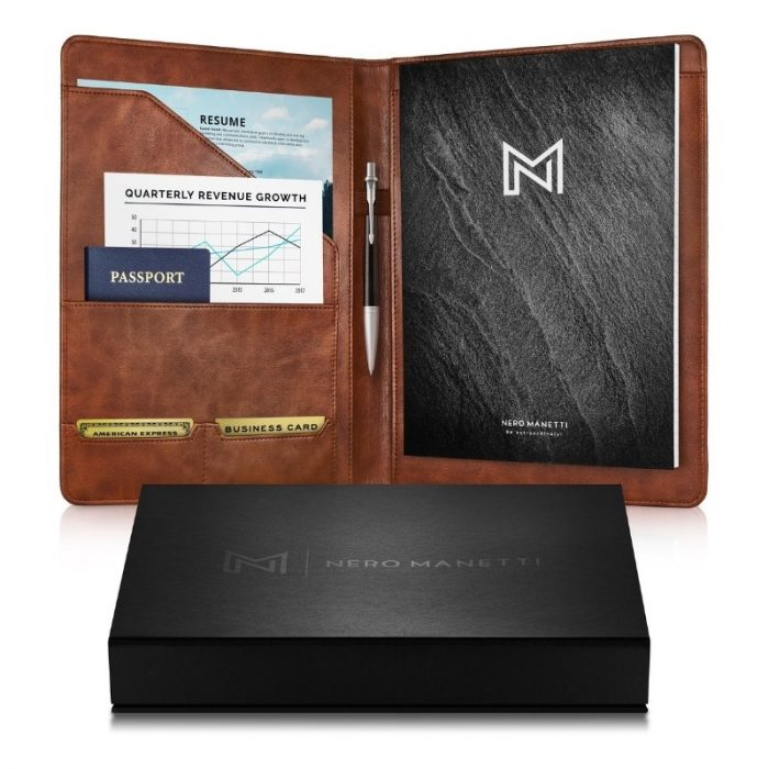 Brown-meeting-portfolio-notebook