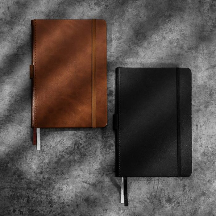 Lined-leather-notebook